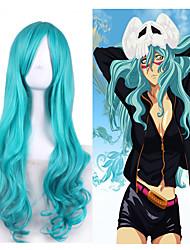 Anime Harajuku Style Cosplay Neliel Tu Oderschvank Wave Personality Wearing Party Halloween Natural Trendy Wig