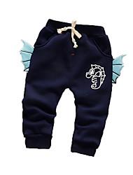 Pantalons bébé Imprimé Décontracté / Quotidien Coton Hiver Bleu / Vert / Rose / Violet