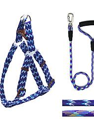 Dog Harness / Leash Adjustable/Retractable / Safety / Training / Running Purple Nylon