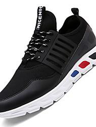 Femme-Extérieure / Décontracté / Sport-Noir / Rouge / Blanc-Talon Bas-Confort-Sneakers-Tulle