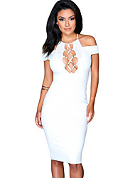 Women's Nightwalker Bodycon Lace-up Hollow-out Dress