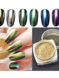 6pcs  Arrival Bling Mirror Nail Glitter Powder Gorgeous Manicure Nail Art Sequins Chrome Pigment Glitters