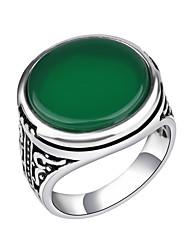 Anéis Fashion / Vintage Diário / Casual Jóias Liga Feminino / Masculino Anéis Statement 1pç,7 / 8 / 9 / 10 Preto / Vermelho / Verde