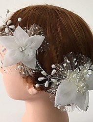 Women's Rhinestone / Tulle / Acrylic Headpiece-Wedding / Special Occasion / Casual Flowers 1 Piece