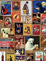 JAMMORY Art Deco Wallpaper Retro Wall Covering,Canvas Large Mural Posters