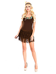 Costumes More Costumes Halloween Brown Solid Terylene Dress / More Accessories
