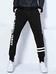 Autumn Men's Striped Letters Printed  Business Casual Long Pants Sweatpants