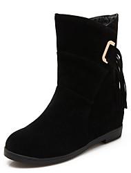 Feminino-Botas-Plataforma / Botas Montaria / Botas da Moda / Botas de Motocicleta / Conforto / Inovador / Botas de Cowboy / Botas de Neve-