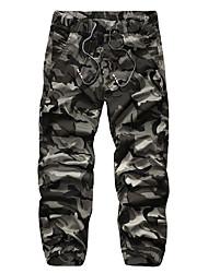 Pantalon de Sport Pour des hommes Camouflage Décontracté / Sport Coton Vert / Jaune
