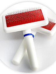 Cat / Dog Grooming Comb Pet Grooming Supplies Portable White Plastic