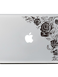 1 pezzo Anti-graffi Fiore decorativo Di plastica trasparente Decalcomanie A fantasia PerMacBook Pro 15'' with Retina MacBook Pro 15 ''