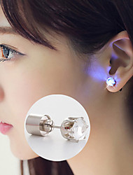 Christmas Flower Led Earrings Ear Stud Dance Party Accessories Flash LED Earrings Crystal Earrings/Studs Multicolor
