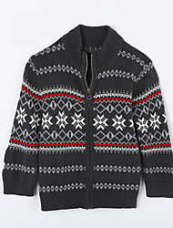 Boy's Casual/Daily Print Sweater & CardiganCotton Fall Green