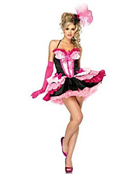 Costumes More Costumes Halloween Pink Patchwork Terylene Dress / More Accessories