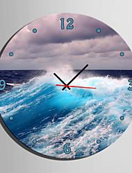 E-HOME® Sea Wave Clock in Canvas 1pcs