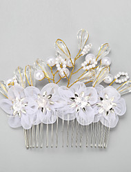 Women's Crystal / Alloy / Imitation Pearl Headpiece-Wedding / Special Occasion Hair Combs 1 Piece