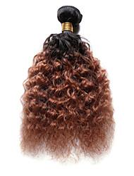 100g / pc глубокая волна 10-18inch цвет # t1b / 30 ombre черные каштановые человеческие волосы переплетаются
