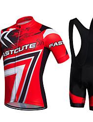 Fastcute® Велокофты и велошорты-комбинезоны Жен. / Муж. / Детские / унисекс Короткие рукава ВелоспортДышащий / Быстровысыхающий /