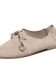 Women's Flats Fall Round Toe / Flats Suede Casual Flat Heel Bowknot Brown / Almond Others