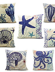 Fluid Systems Pillow Cover Ocean Beach Shell Sofa Cushions Case(Random Pattern)