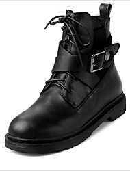 Women's Boots Winter Combat Boots Leather Casual Low Heel Others Black Others