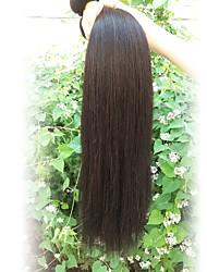 Menschenhaar spinnt Brasilianisches Haar Gerade 12 Monate 1 Stück Haar webt