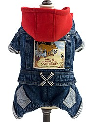 Dog Clothes/Jumpsuit / Denim Jacket/Jeans Jacket Blue Dog Clothes Winter / Spring/Fall Jeans Fashion / Cowboy