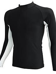 Sportif Homme Maillots de Bain Compression / Confortable Tops Maillots de bain Réglable Réglable Noir / Bleu Noir / Bleu S / M / L
