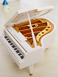 The Piano Music Box Couple Christmas Gift Living Room Decorative Plastic Decoration