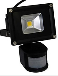 10w führte Flutlichtlampe weißes warmes Licht pir Sensor (ac85-265v)