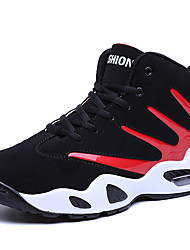Men's Fashion Sneakers Casual/Athletic Microfiber Suede Medium cut Basketball Shoes