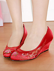 Women's Heels Spring / Fall Round Toe PU Wedding Low Heel Others Red Others