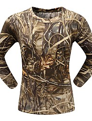Outdoor Sports Cotton Reed Swamp Camouflage Spring Long Sleeve Tshirt Max4 Camo Clothing Shirt for Hunting Fishing