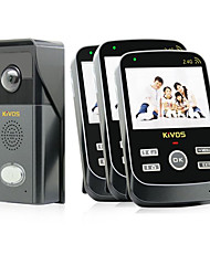 Kivos kdb303 sonnerie visuelle sans fil ac caméra imperméable sonnette interphone