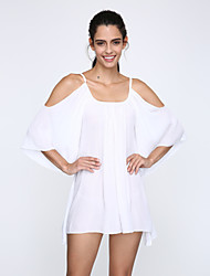 Women's White Ruffled Sundress Beachwear