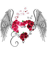 Wall Stickers Wall Decals Flying Roses Feature Removable Washable PVC