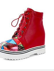 Women's Boots Winter Fashion Boots / Work & Safety / Round Toe / Flats Leatherette Outdoor
