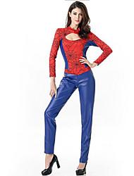 Costumi Cosplay / Vestito da Serata Elegante Costumi da supereroi / Mago/Strega / Oktoberfest Feste/vacanze Costumi Halloween Rosso / Blu