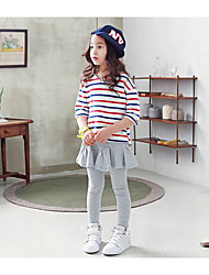 Girl's Going out Solid SkirtCotton Summer / Spring Gray