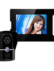 7 Inch Widescreen Night Vision Waterproof Lock Function Visual Doorbell