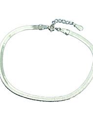 Bracelet Chaînes & Bracelets Manchettes Bracelets Argent sterling Autres Mode Soirée Quotidien Décontracté Bijoux Cadeau Argent,1pc