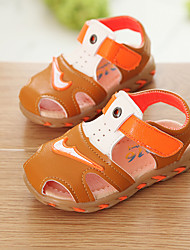 Boy's Sandals Summer Sandals PU Casual Flat Heel Magic Tape Blue / Brown Others