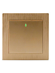86 Type Champagne Gold Wire Drawing One Open Single Control Wall Switch