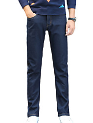 Men's Solid Casual / Work JeansCotton / Polyester / Spandex Blue WSL-6620