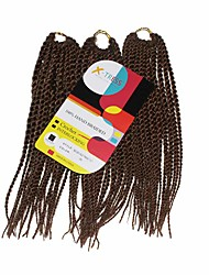 Senegal Twist Auburn Color 30 Synthetic Hair Braids 12inch Kanekalon 81 Strands 125g  Multipal Pack for Full Heads