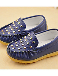 Unisex Flats Fall Flats Synthetic Casual Flat Heel Rivet Black / Blue / Yellow / White Others