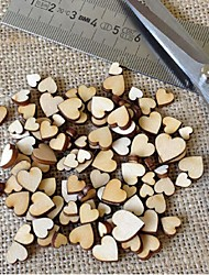 Rustic Wood Wooden Love Heart Wedding Table Scatter Decoration Crafts DIY 100 pcs