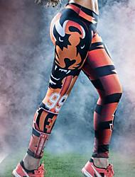 Femme A Motifs Legging,Spandex