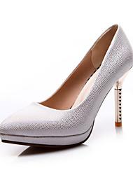 Damen-High Heels-Hochzeit / Büro / Party & Festivität / Kleid / Lässig-Glanz-Stöckelabsatz-Komfort / Pumps-Schwarz / Silber / Gold