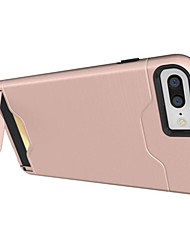 Назначение iPhone X iPhone 8 iPhone 7 iPhone 7 Plus iPhone 6 Чехлы панели Бумажник для карт Защита от удара со стендом Задняя крышка Кейс